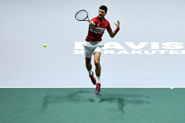 Novak Djokovic in action with Serbia coming close before crashing out