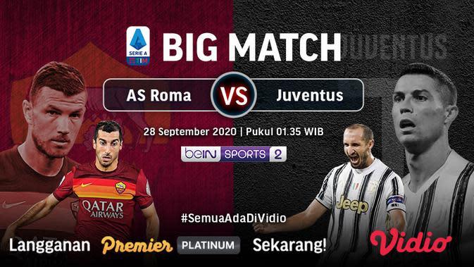 Big match AS Roma Vs Juventus dapat ditonton di Vidio. (Sumber: Vidio)