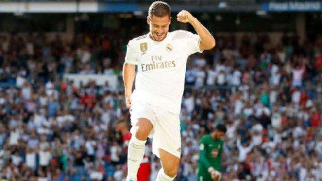 Gelandang Real Madrid Eden Hazard