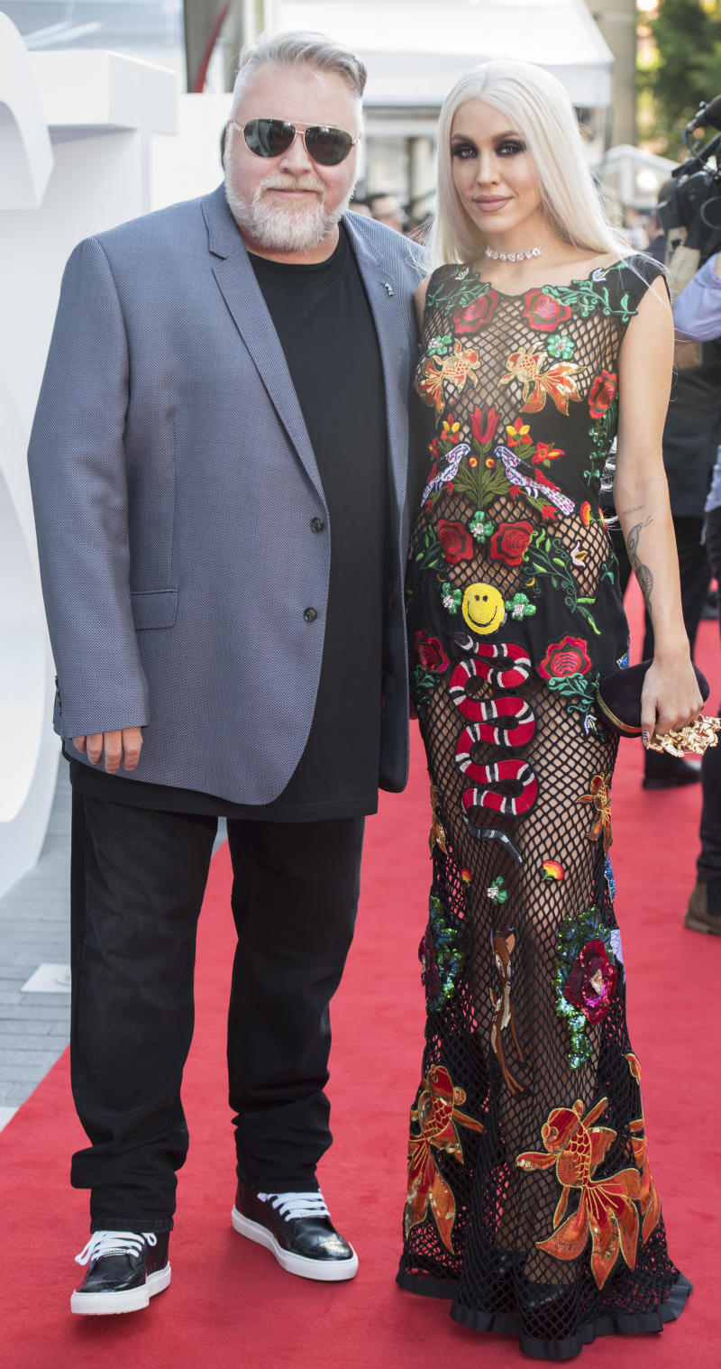 A photo of Kyle Sandilands and Imogen Anthony at the 31st Annual ARIA Awards 2017 at The Star on November 28, 2017 in Sydney, Australia.