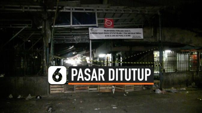 VIDEO: Pedagang Positif Covid-19 Pasar Minggu Ditutup