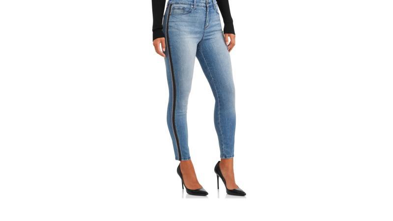 Rosa Curvy Lurex Side Stripe High Waist Ankle Jean. (Photo: Walmart)