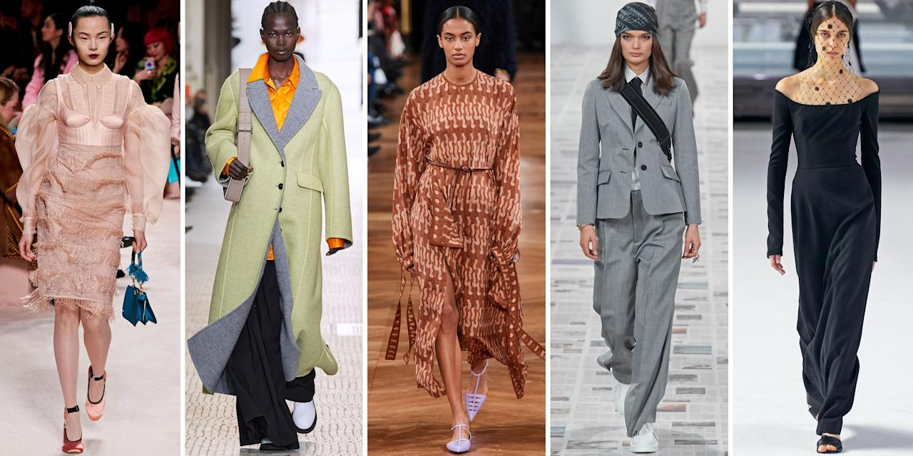 """<p class=""""body-dropcap"""">Based on the fall runways, the season's fashion palette is painted in essential neutrals, soft pinks, and gradients of gray, as well as the tried-and-true: head-to-toe black. Wearable and chic, these colors are set to dominate the spectrum come September. Now is the perfect time to take inspiration and update your wardrobe with the classic pieces we've curated ahead. </p><p class=""""body-text"""">Shop statement coats, everyday accessories, and cold-weather must-haves ideal for the forthcoming falling temperatures, and remember: Less is more this season, and investing in practical wardrobe essentials is just good sense. </p><hr>"""
