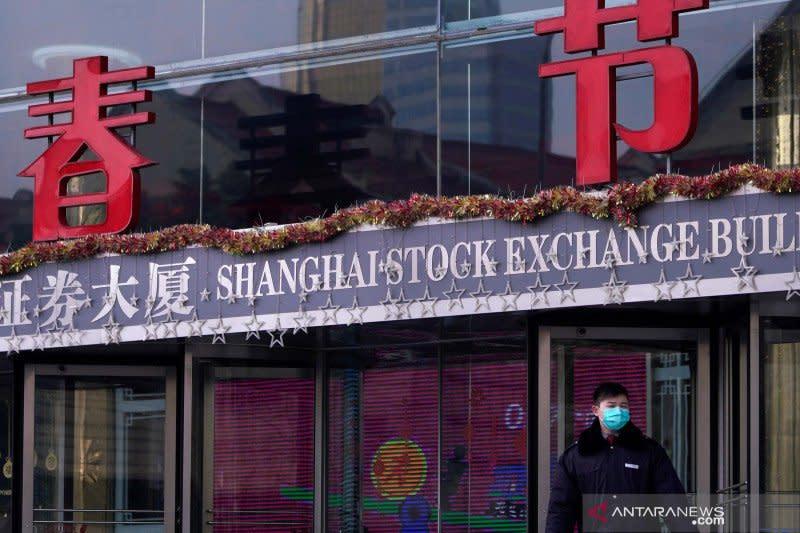 Saham China balikkan kerugian awal berakhir lebih tinggi