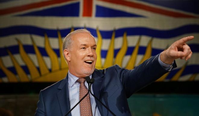 British Columbia Premier John Horgan. Photo: Reuters