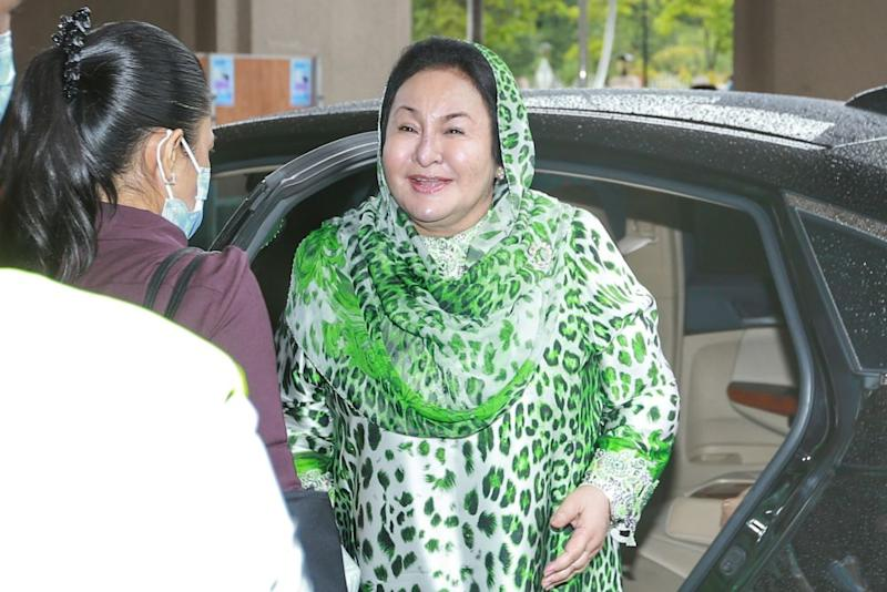 Datin Seri Rosmah Mansor arrives at the Duta High Court in Kuala Lumpur July 13, 2020. — Picture by Ahmad Zamzahuri