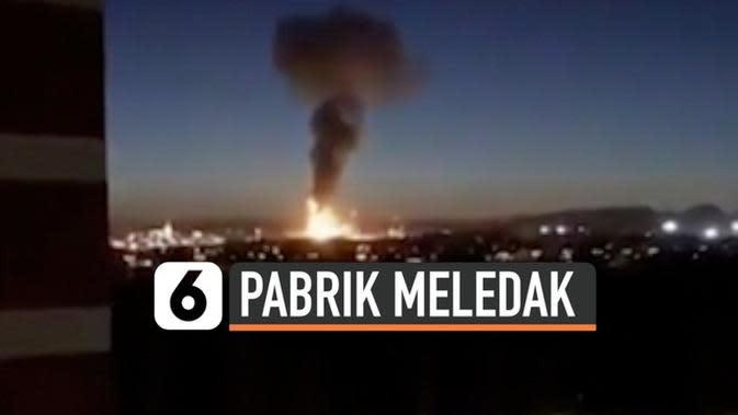 VIDEO: Pabrik Kimia Meledak di Spanyol, 1 Orang Tewas