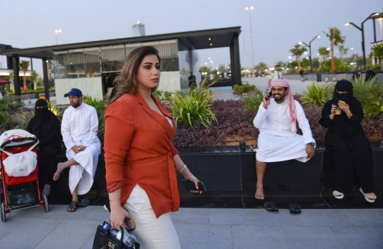 Mashael al-Jaloud, 33, has stopped wearing the all-covering abaya except at work