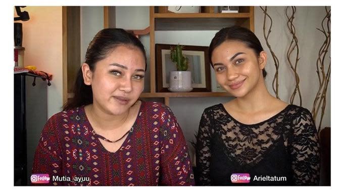 Mutia Ayu dan Ariel Tatum (Sumber: YouTube/ Mutia Ayu)