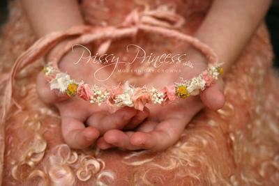 Victorian Halo Headband in Pink Newborn Baby Photography