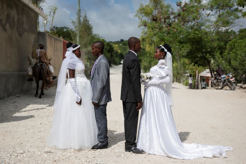 Defying protests and poverty, Haitians get creative to wed in style