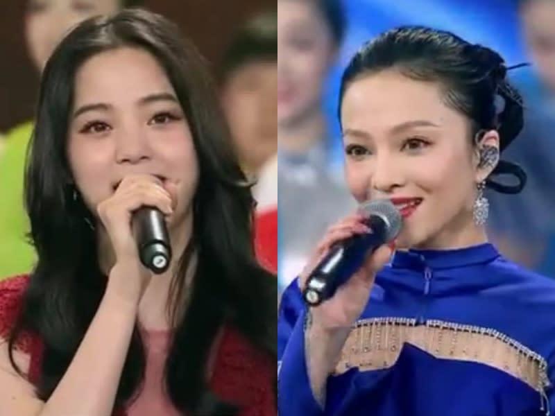 歐陽娜娜、張韶涵登十一晚會 演唱愛國歌曲「我的祖國」、抗疫宣傳曲「守護」(擷取自微博)
