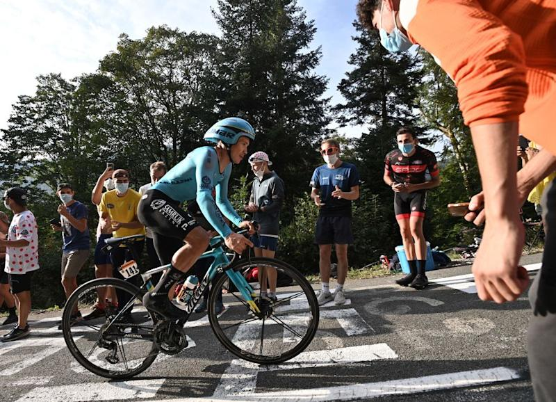 Astana's Miguel Angel Lopez slipped from third place to sixth overall after the final time trial at the 2020 Tour de France