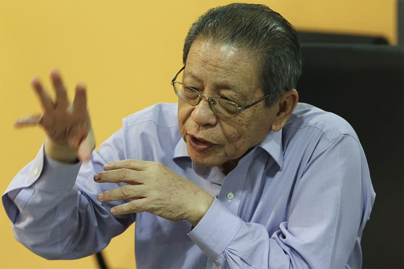 Lim Kit Siang has asked today Prime Minister Tan Sri Muhyiddin Yassin's motives for not presenting the economic recovery plan called Penjana to Parliament for approval. — Picture by Yusof Mat Isa