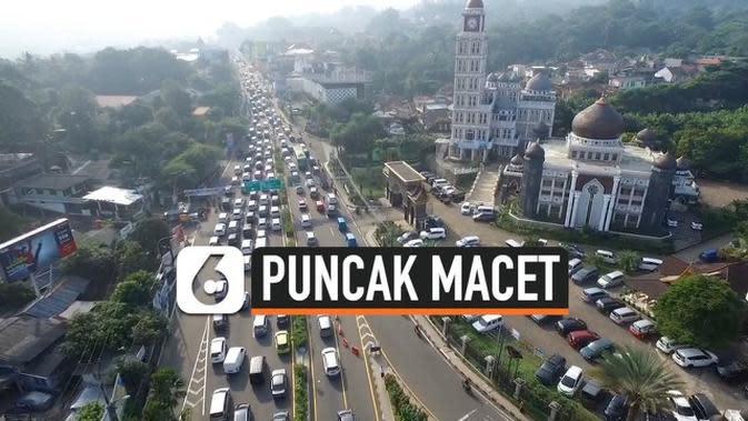 VIDEO: Pantauan Udara Kemacetan Jalur Puncak