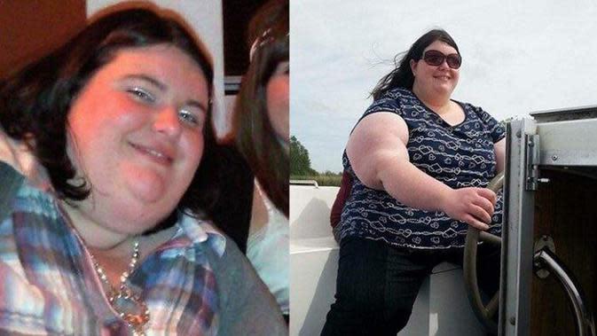 Gemma berhasil turunkan berat badan hingga 108kg. Sumber: Liverpool Echo
