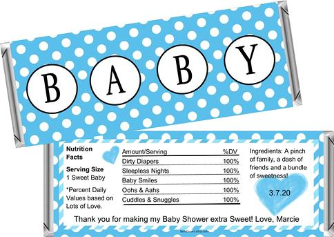 Boys Baby Shower Decor MVP Baby Shower Favors 12 Large Personalized All Star Baby Shower Hershey Candy Bar Wrappers