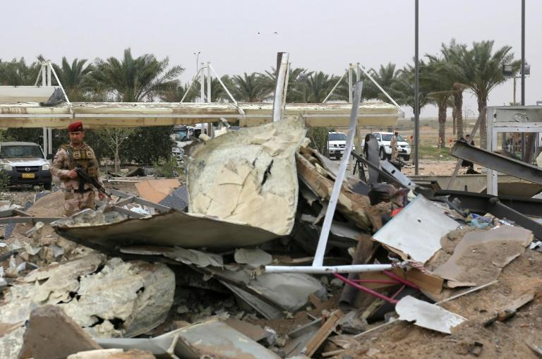A civilian cook was among the dead in the retaliatory US strikes which hit the unfinished airport serving the Iraqi shrine city of Karbala among other targets