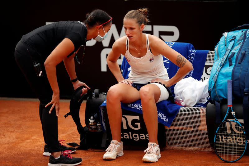 Tennis: Second seed Pliskova hoping to be fully fit before opening match