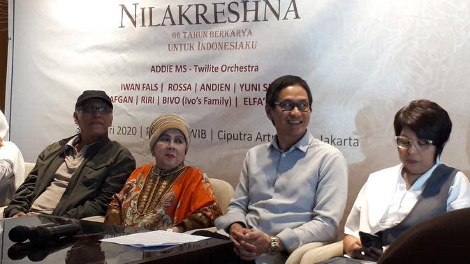 Diakui Iwan Fals, musik-musik Ivo Nilakreshna memiliki tingkat kesulitan yang tinggi. (Liputan6.com/ Zulfa Ayu Sundari)