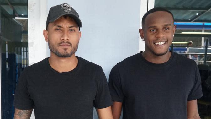 Wander Luiz dan Joel Vinicius hadir dalam sesi latihan Persib Bandung. (Liputan6.com/Huyogo Simbolon)