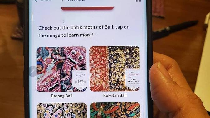 Tampilan aplikasi iWareBatik (dok. Didiet Maulana via Instagram @iwearbatik)