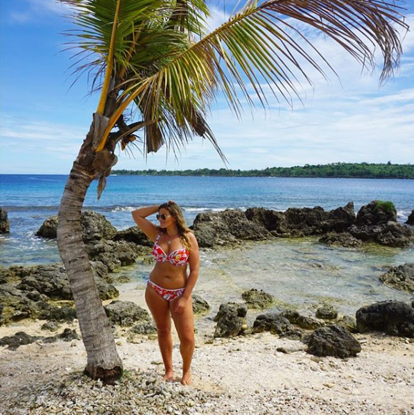 """<p><span>Whether by the pool, sipping on coconuts or exploring the island's beaches, Fiona seemed to sum everything up perfectly when she captioned a photo of herself and Hayley as, """"</span><span>Wind swept or love swept?"""" </span>Photo: Instagram/fionafalkiner </p>"""