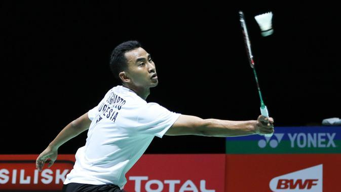 Tunggal putra Indonesia Tommy Sugiarto, tersingkir di Indonesia Masters 2020. (foto: PBSI)