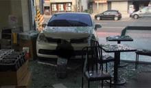 剎車誤踩油門 員工開車撞進自家超商