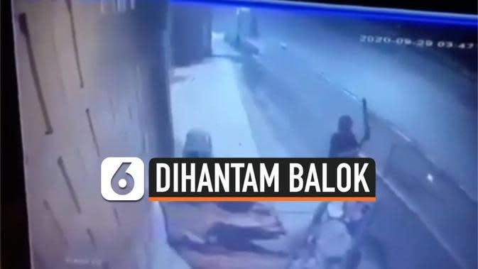 VIDEO: Perampok Hantam Pemulung Pakai Balok, 1 Tewas