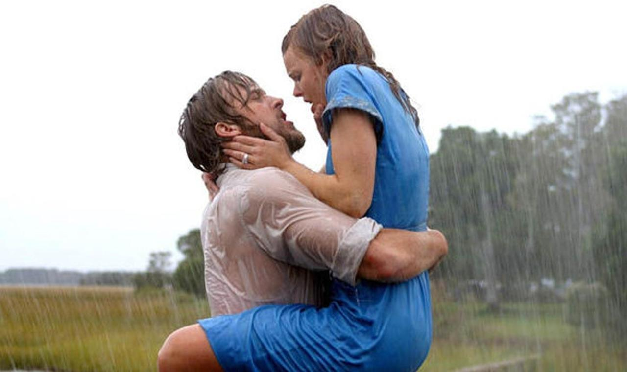 <p>The 2004 Nicholas Sparks classic tells the typical love story of a girl (Rachel McAdams) who falls in love with a boy (Ryan Gosling), and her parents don't approve. But their passionate kiss in the middle of a rainstorm is pure movie magic.</p>
