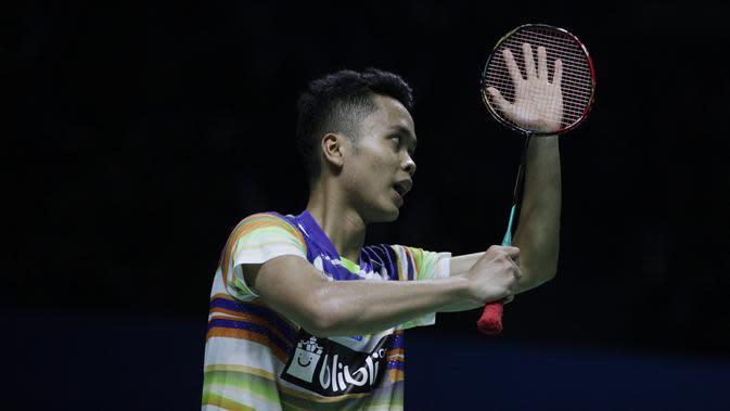 Tunggal putra Indonesia, Anthony Sinisuka Ginting. (Bola.com/Vitalis Yogi Trisna)