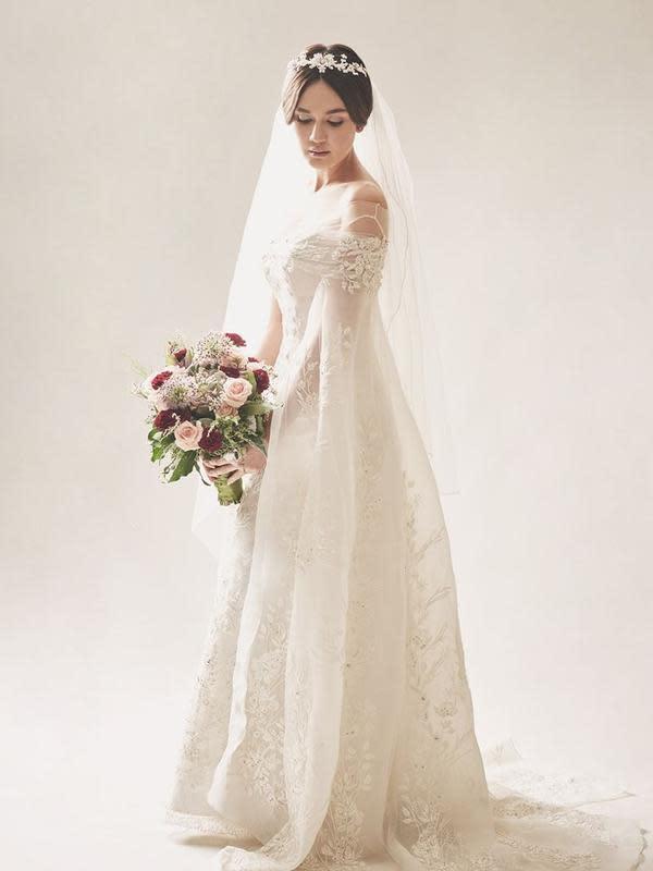 Belum Menikah, 7 Seleb Ini Tampil Memukau Saat Kenakan Baju Pengantin. (Sumber: Instagram/lunamaya)