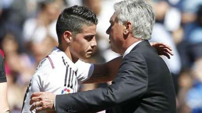 James Rodriguez dan Carlo Ancelotti bakal bereuni di Everton.