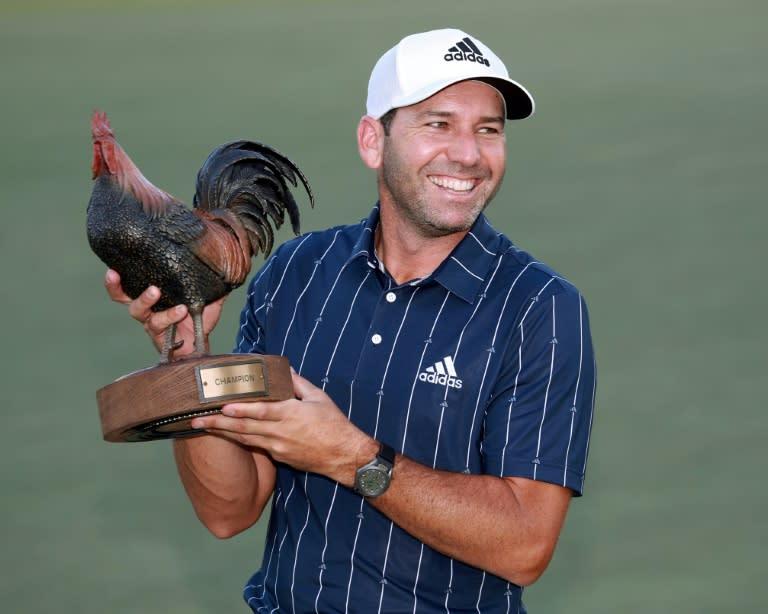 Garcia closes with birdie to win PGA Sanderson Farms title