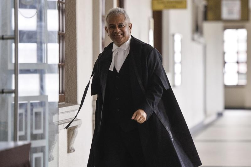 Attorney General Tommy Thomas arrives at the Kuala Lumpur High Court August 23, 2019. — Picture by Miera Zulyana