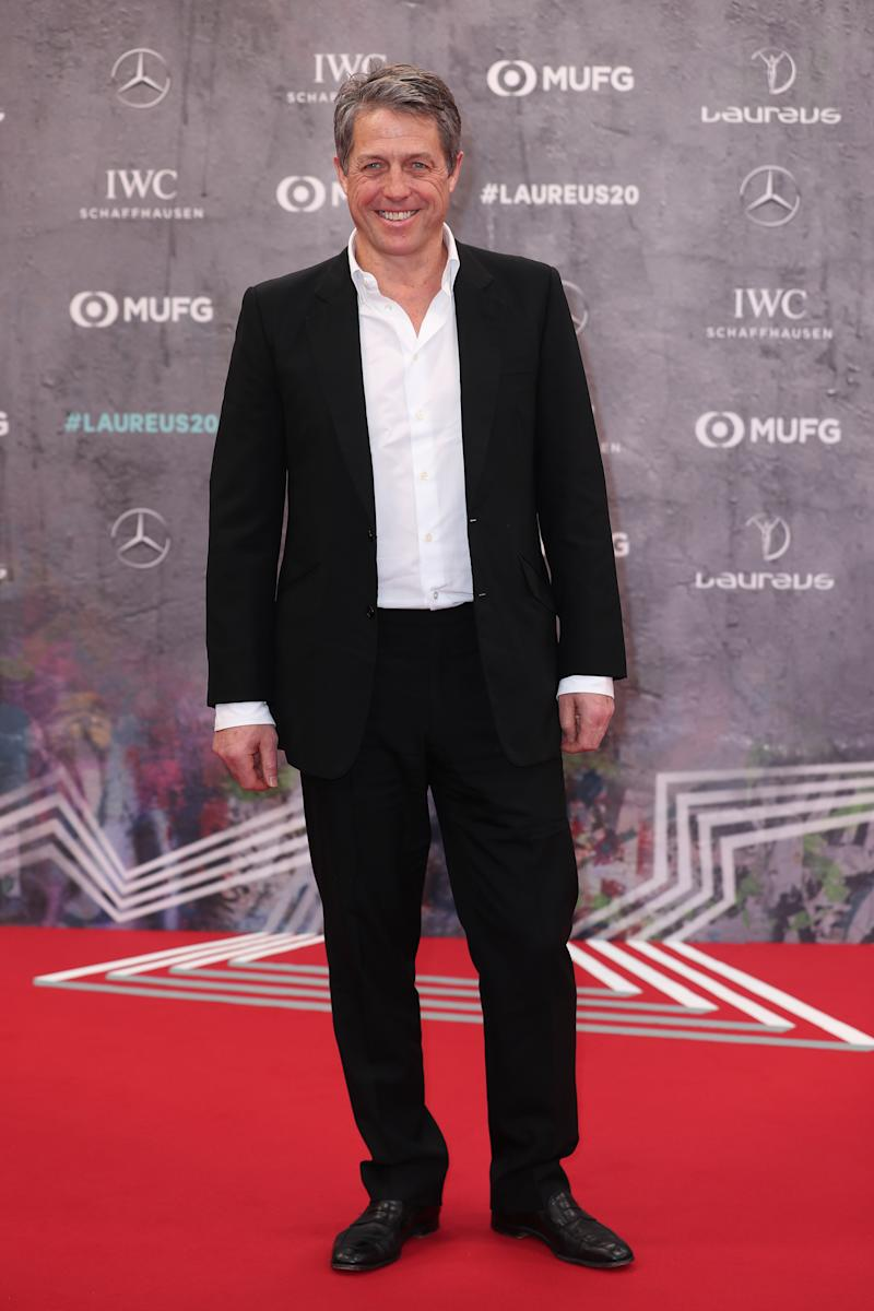 Hugh Grant attends the 2020 Laureus World Sports Awards at Verti Music Hall on February 17, 2020 in Berlin, Germany. (Photo by Boris Streubel/Getty Images for Laureus)