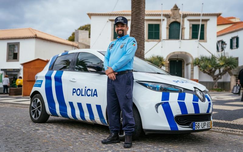 Renault Zoe police car on Porto Santo
