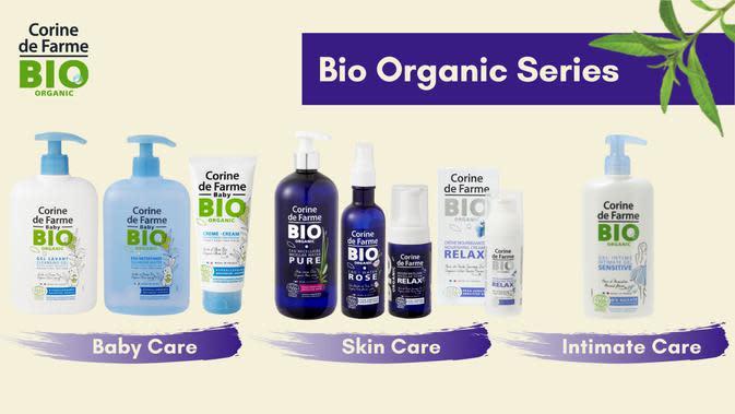 Bersama Corine de Farme Bio Organic, kulit sehat, kelestarian bumi senantiasa terjaga.