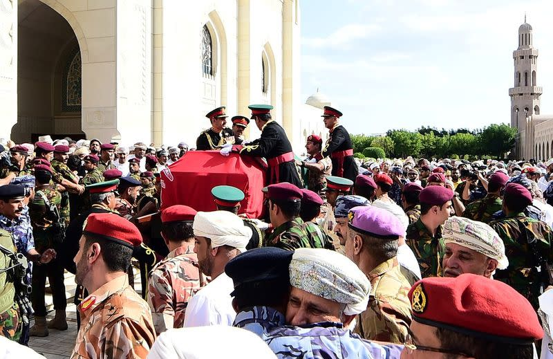 Funeral of Sultan Qaboos bin Said in Muscat