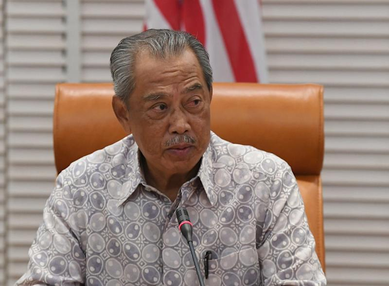 Prime Minister Tan Sri Muhyiddin Yassin chairs a special National Security Council meeting on Covid-19 at Bangunan Perdana Putra in Putrajaya today October 3, 2020. ― Bernama pic