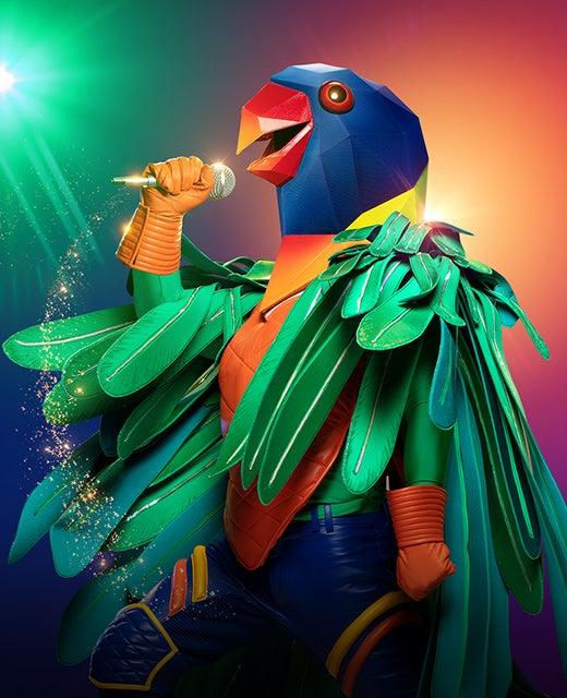 The Parrot on The Masked Singer Australia 2019. Photo: Channel 10