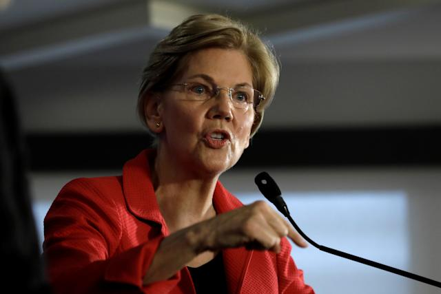 """Every one of these officials have sworn to uphold the Constitution of the United States. It's time for them to do their job,"" Sen. Elizabeth Warren said Thursday on CNN. (Yuri Gripas / Reuters)"