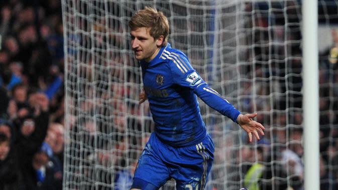 5. Marko Marin - Marko Marin didatangkan Chelsea dari Werder Bremen pada musim 2012/2012. Marin mencatatkan 16 penampilan untuk Chelsea dengan mencetak satu gol kemudian dipinjamkan ke beberapa klub dan meninggalkan Chelsea pada 2016. (AFP/Carl Court)