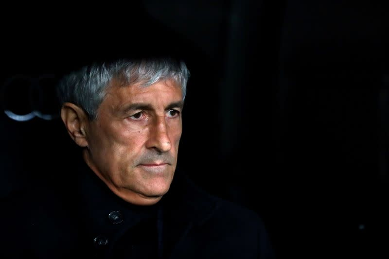 Barcelona coach Setien unperturbed by future ahead of Napoli game