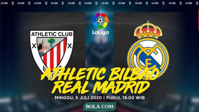 La Liga - Athletic Bilbao Vs Real Madrid (Bola.com/Adreanus Titus)