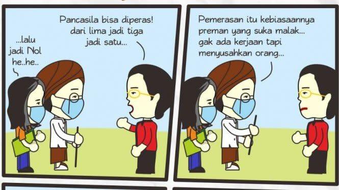 Komik Pak Kyai: Pancasila Kok Diperas, Jangan Halu!