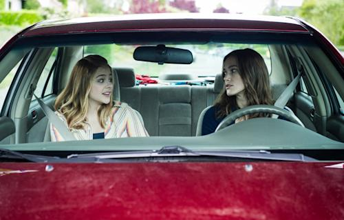 "This photo provided by the Sundance Institute shows Chloe Grace Moretz, left, and Keira Knightley in a scene from the film, ""Laggies,"" directed by Lynn Shelton. The film will have its premiere at the 2014 Sundance Film Festival. The festival runs Jan. 16 - 26, 2014, in Park City, Utah. (AP Photo/Sundance Institute, Barbara Kinney)"