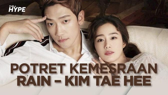 Potret Romantis Rain dan Kim Tae Hee