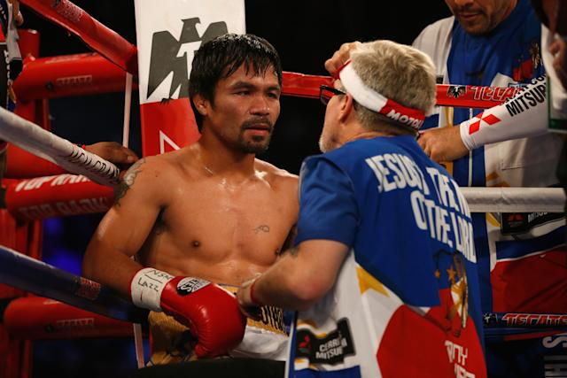 Manny Pacquiao and Freddie Roach